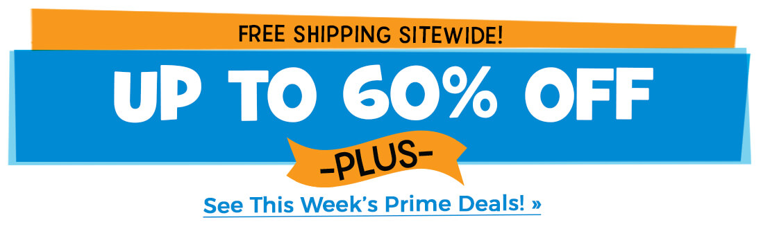 Prime Deal: Get up to 60% off plus free shipping