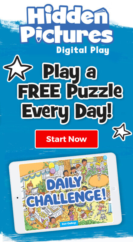 Play a free Hidden Pictures puzzle every day in our daily challenge – start now!