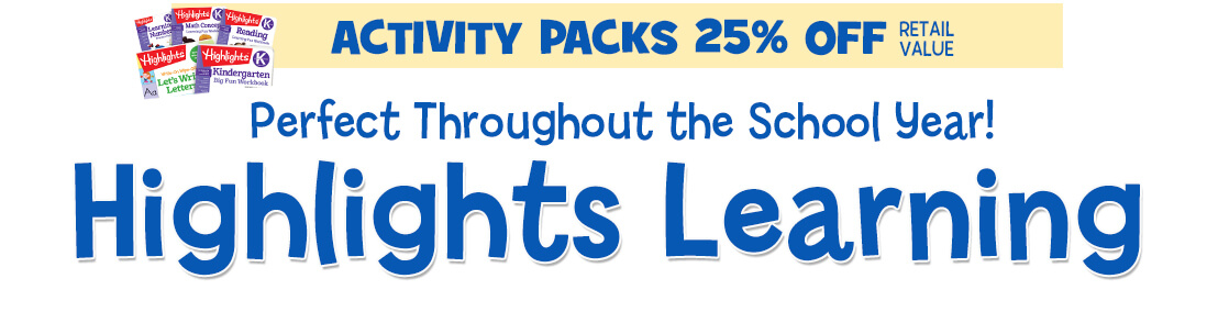 Highlights Learning Success Packs are Over 25% OFF!