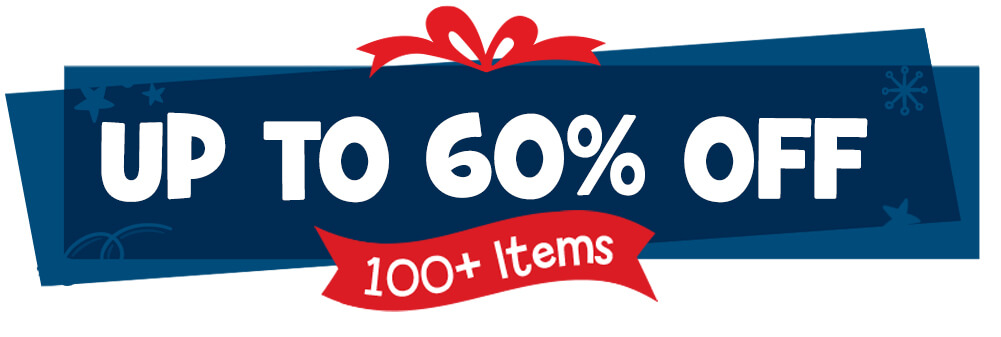 Get up to 60% on more than 100 items.