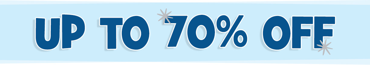 Get up to 70% OFF over 100 gift items, including our big Winter Clearance!