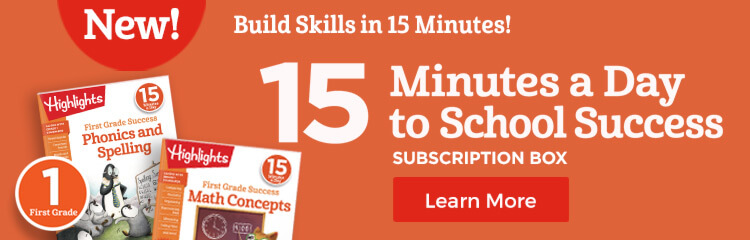 Support first grade core school skills and independent learning with our 15-minute learning program!