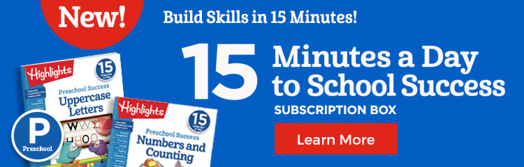 Build preschool skills like pre-handwriting, early math and literacy with our 15-minute learning program!