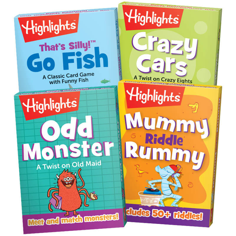 Highlights Classic Card Games, Set of 4