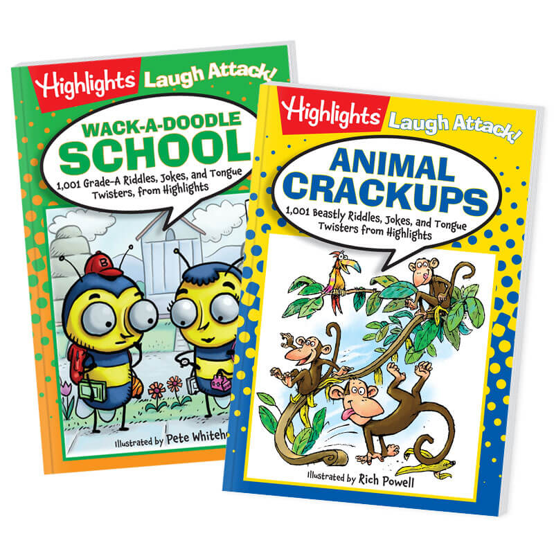 Joke Books: Animal Crack-Ups and Wack-A-Doodle School 2-Book Set