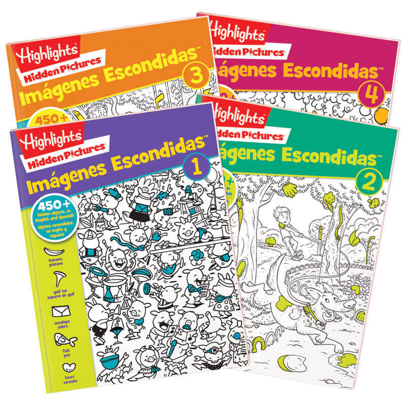 Bilingue Hidden Pictures� 4-Book Set