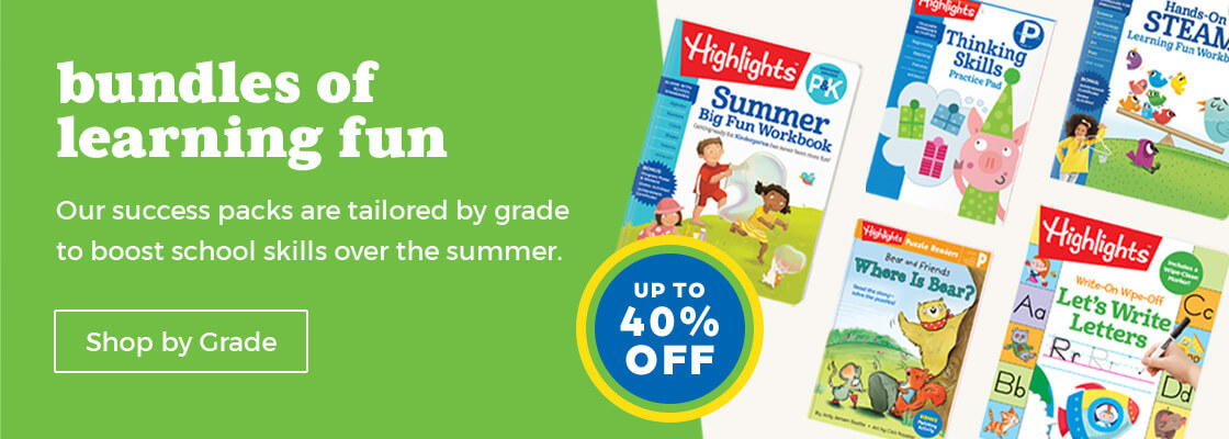 Bundles of learning fun perfect for this summer – shop our Summer Success Packs by grade.