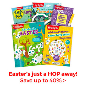 Save up to 40% on Easter gifts, books and more.