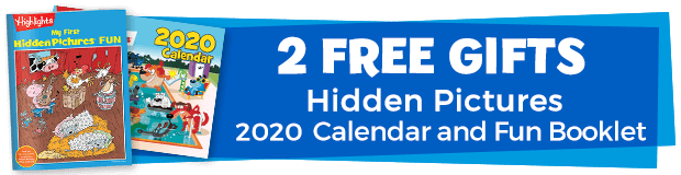 2 Free Gifts including Hidden Pictures Calendar and Fun Booklet