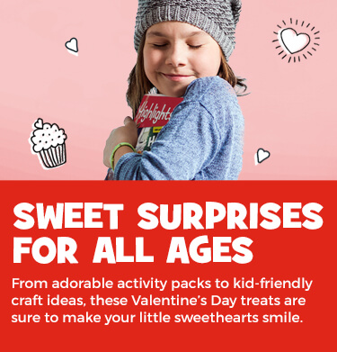 Celebrate Valentine's Day with heart-themed Hidden Pictures, age-appropriate activity packs and kid-friendly craft ideas.