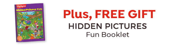 Plus, get a free gift: Hidden Pictures fun booklet.