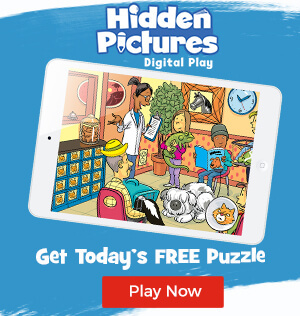 Play today's FREE Daily Challenge puzzle from Hidden Pictures Digital Play!