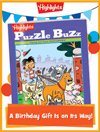 Puzzle Buzz Foldable Birthday Gift Announcement