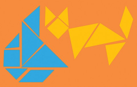 Play tangram puzzles