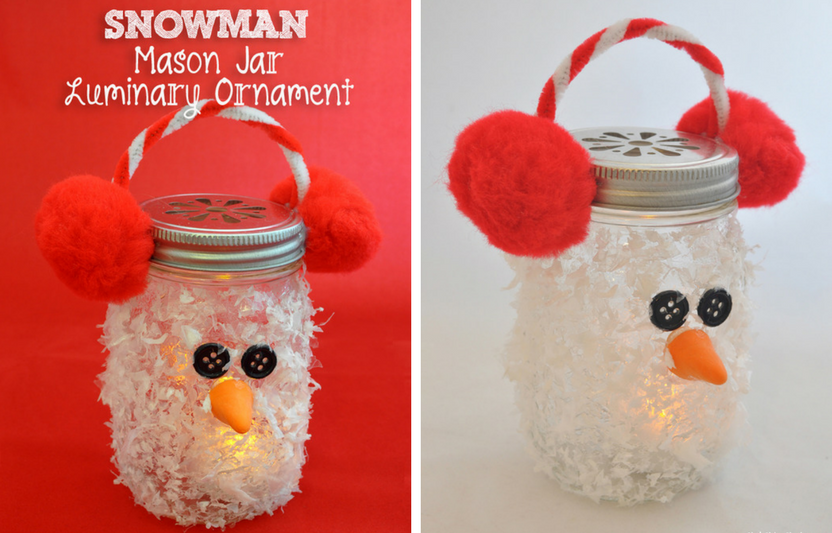 Place a battery operated light inside, then watch this snowman glow!