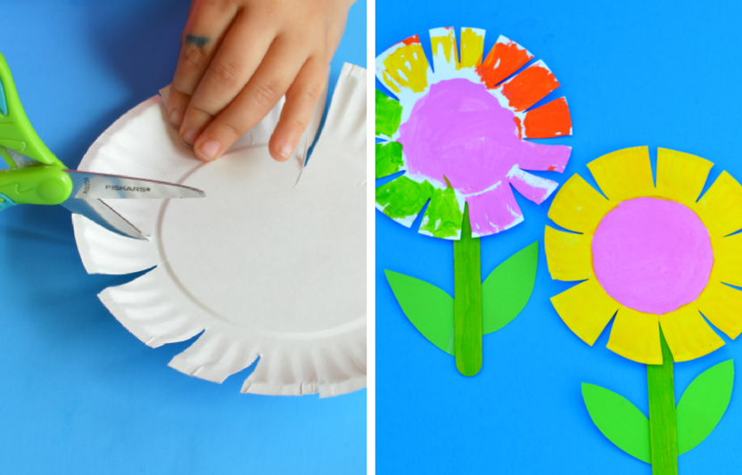 This simple flower craft is perfect for the little ones that are still learning scissor skills.