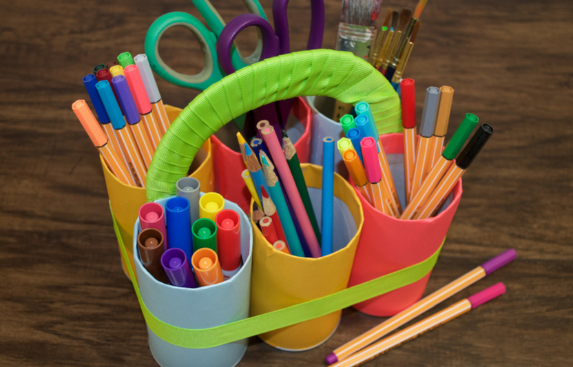 Try this craft with your kids to help them—and you—be your best-organized selves.