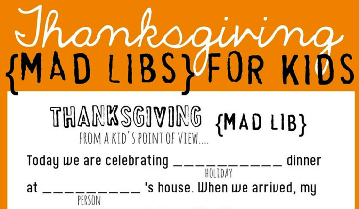 Get kids giggling with these free printable Thanksgiving-themed fill-in-the-blank stories—fun for the whole family!