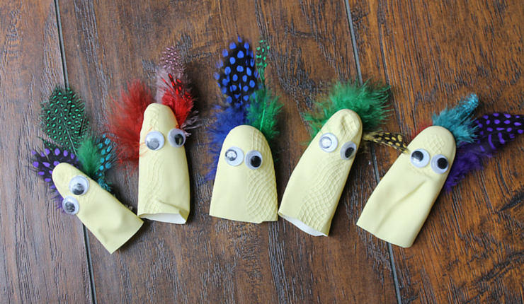 When the big turkey needs an extra hour in the oven, make these five little turkey puppets and have some fun with the accompanying song!