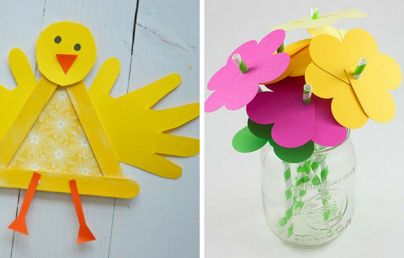 Welcome spring into your home with these super-simple, seasonal crafts that teach kids fine motor skills, shapes, and science about the season!