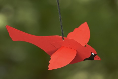 Flying Cardinal Mobile