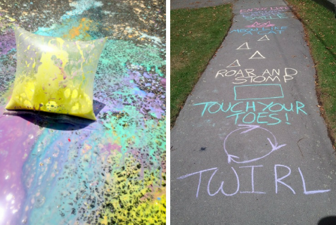 What can you do with sidewalk chalk? The possibilities are endless!