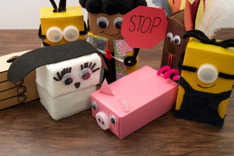 Turn fun-size cereal boxes into hilarious puppets with these easy-to-follow instructions.