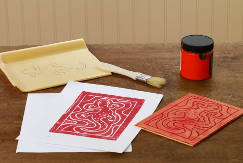 These easy-to-make prints produce a beautiful finished product and are a lot of fun to do. Kids will enjoy making the picture on the foam, painting the foam, and the transferring the paint to the paper.