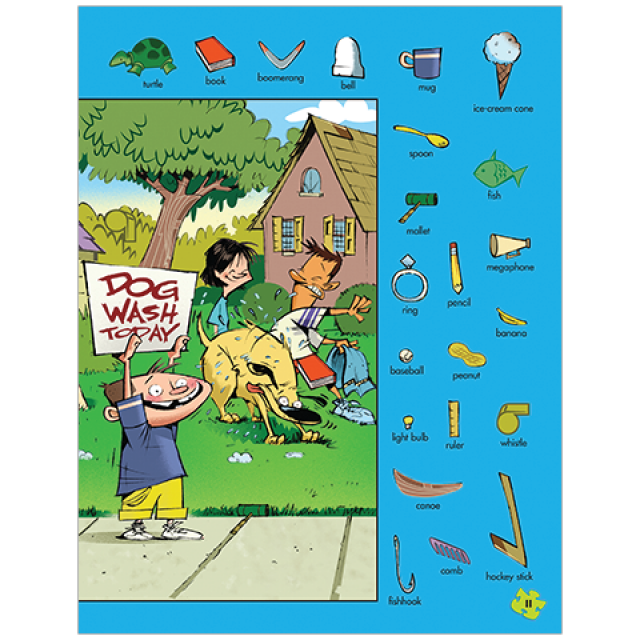 For the Dogs Hidden Pictures Puzzle