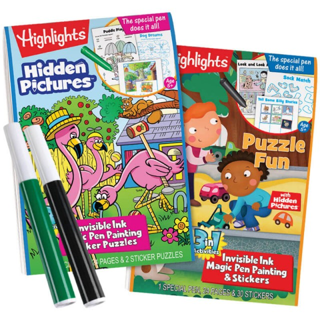 Highlights 3-in-1 Invisible Ink Books: Hidden Pictures and Puzzle Fun