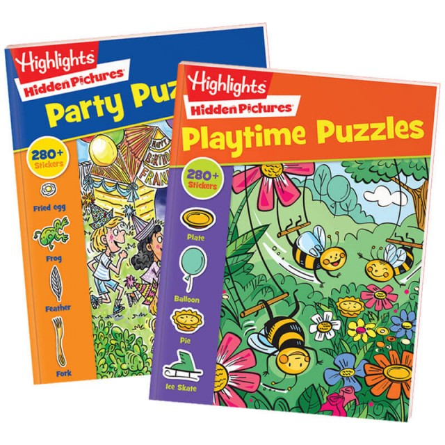 Hidden Pictures Stickers 2-Book Set: Party and Playtime