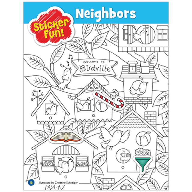 Hidden Pictures LET'S PLAY Sticker Puzzle