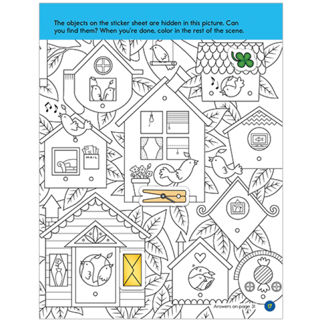 Neighbors Hidden Pictures LET'S PLAY Sticker Puzzle