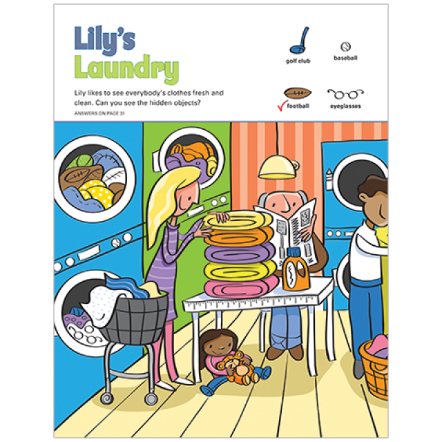 Lily's Laundry Hidden Pictures Puzzle