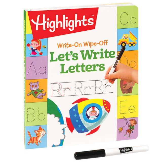 Imaginative puzzles, mazes and tracing activities help kids learn the alphabet.