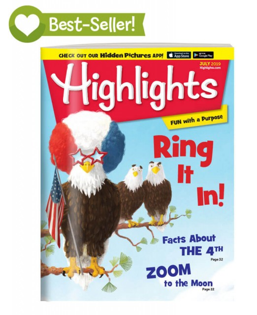 Highlights July Issue Magazine Cover