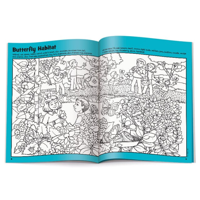 Two-page Butterfly Habitat puzzle