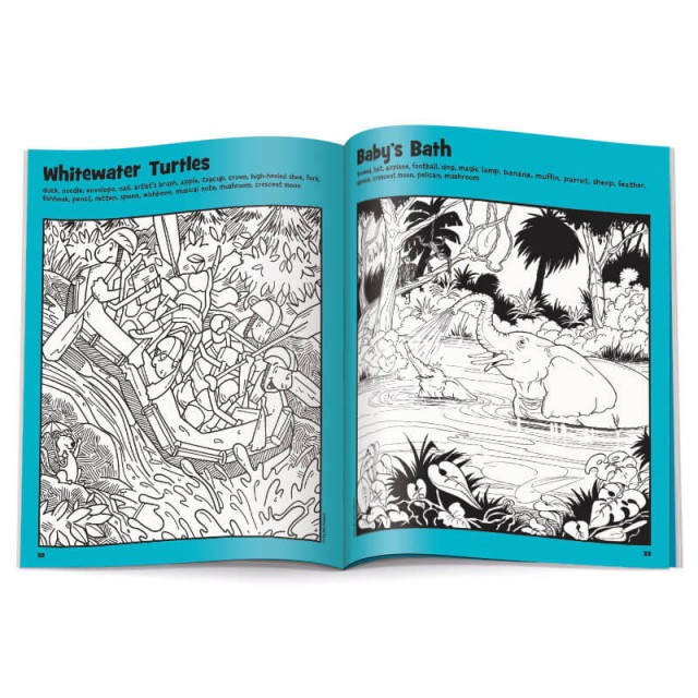 Whitewater Turtles puzzle and Baby's Bath puzzle