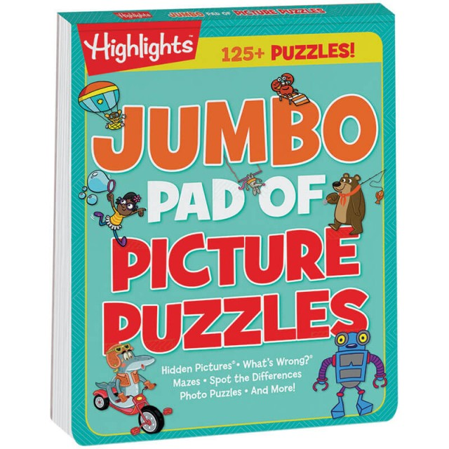 Jumbo Pad of Picture Puzzles book