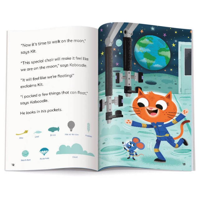 Story page and walking on the moon Hidden Pictures scene