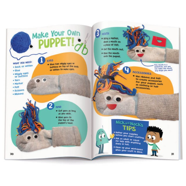 Instructions for STEM activity to make a sock puppet