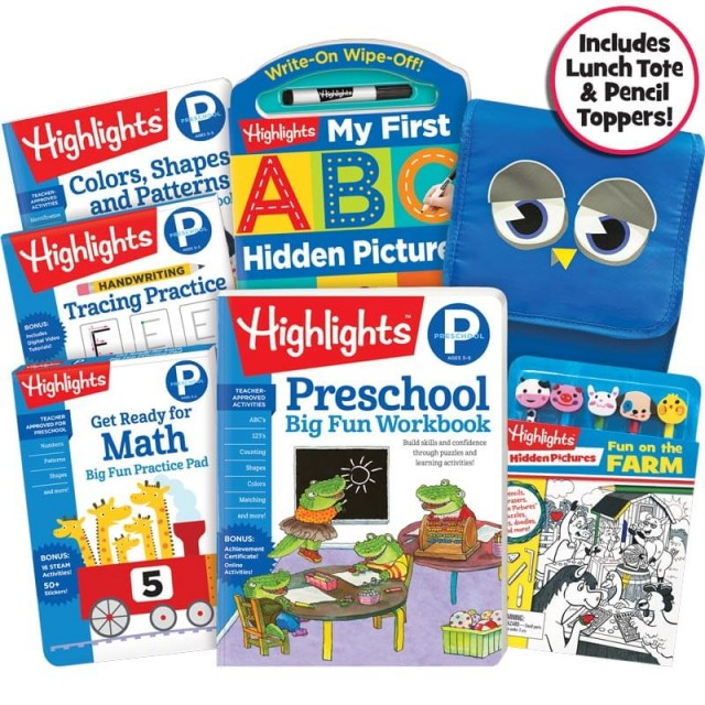 School Success Pack, Preschool, with 5 books, lunch tote, and farm puzzle and pencil kit
