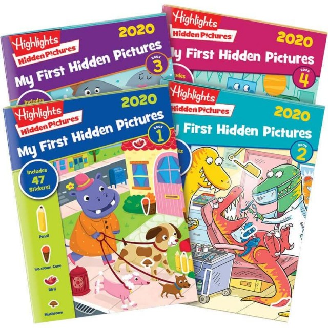 My First Hidden Pictures 2020 Collection, 4 books