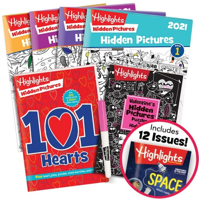 Deluxe Valentine's Gift Set for ages 6 and up with magazine subscription