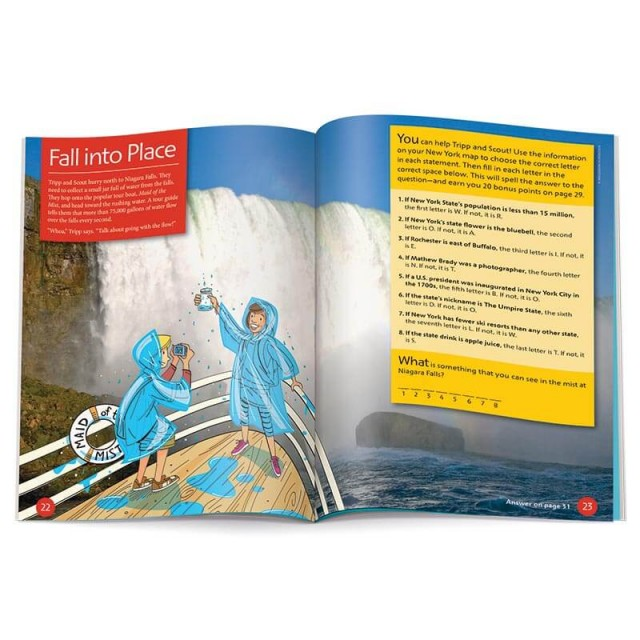 A word puzzle and information about Niagara Falls