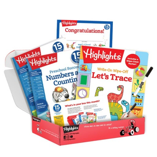 Highlights 15 Minutes a Day to School Success preschool subscription box