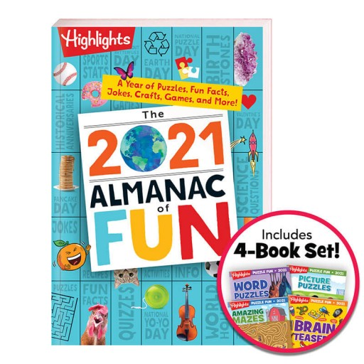 2021 Almanac of Fun and Puzzle Fun 4-Book Set