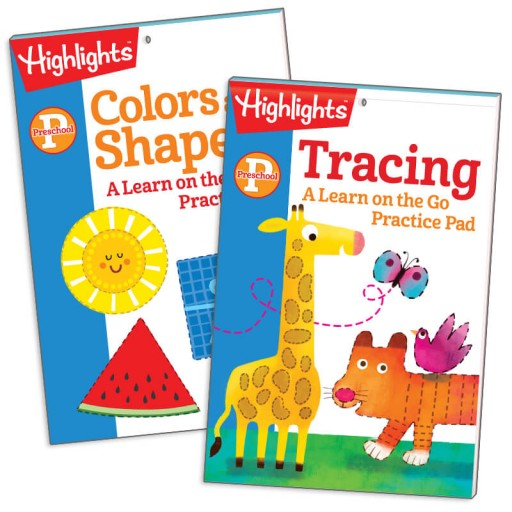 Color and Shapes and Tracing Practice Pads Set of 2