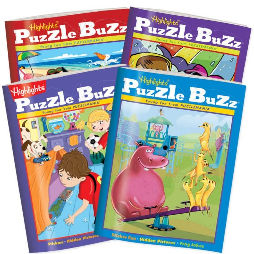 4 books from the Puzzle Buzz Club