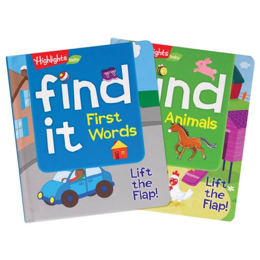 Find It! First Words and Animals Board Book
